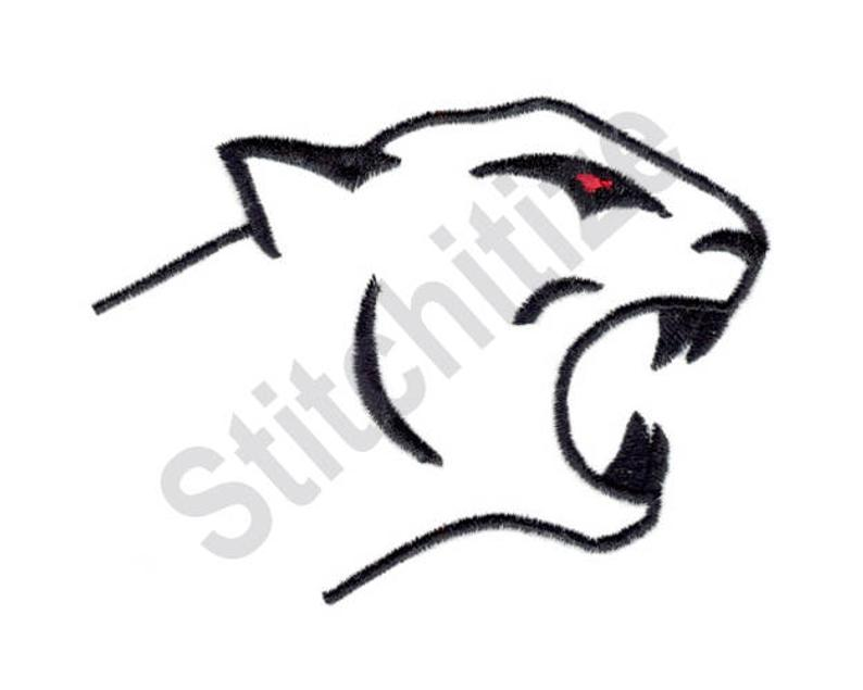 794x635 Cougar Outline Machine Embroidery Design Embroidery Etsy