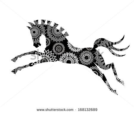 450x380 Jumping Horse Outline Clip Art Free Vector In Open Office Drawing
