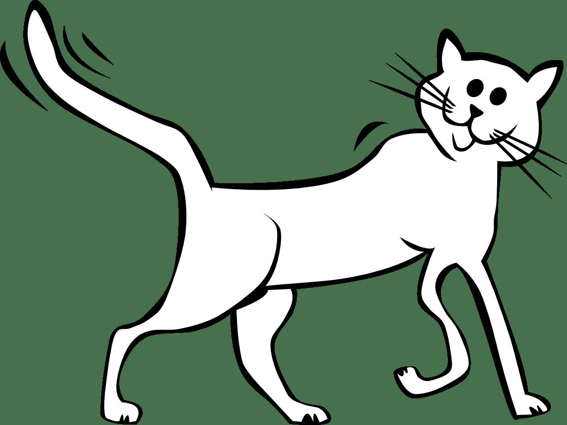 1152x863 Walking Cat Coloring
