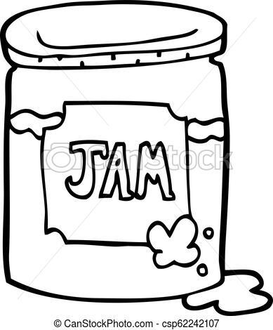 389x470 Line Drawing Cartoon Jam Pot