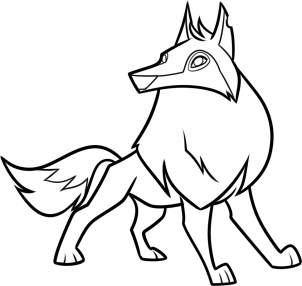 302x286 How To Draw An Animal Jam Arctic Wolf Step Projects To Try