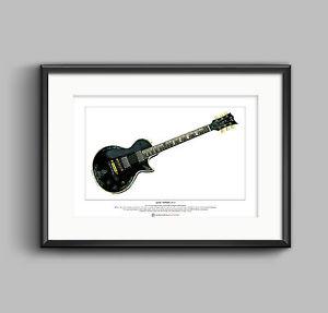 300x287 james hetfield's esp jh guitar limited edition fine art print