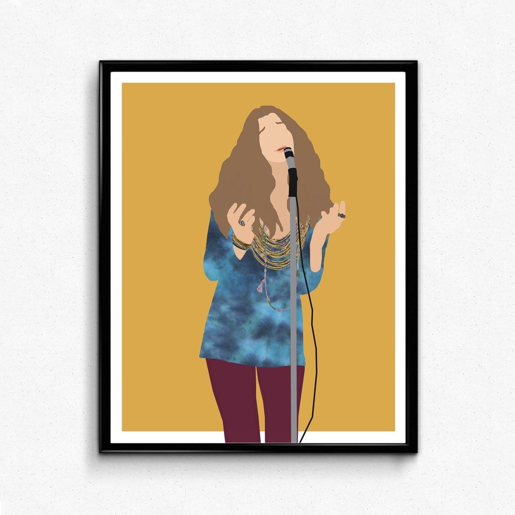 1060x1060 janis joplin poster music poster, feminist print the film artist