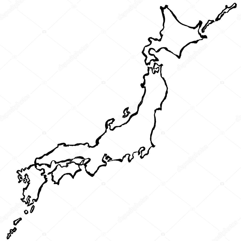 Japan Map Drawing