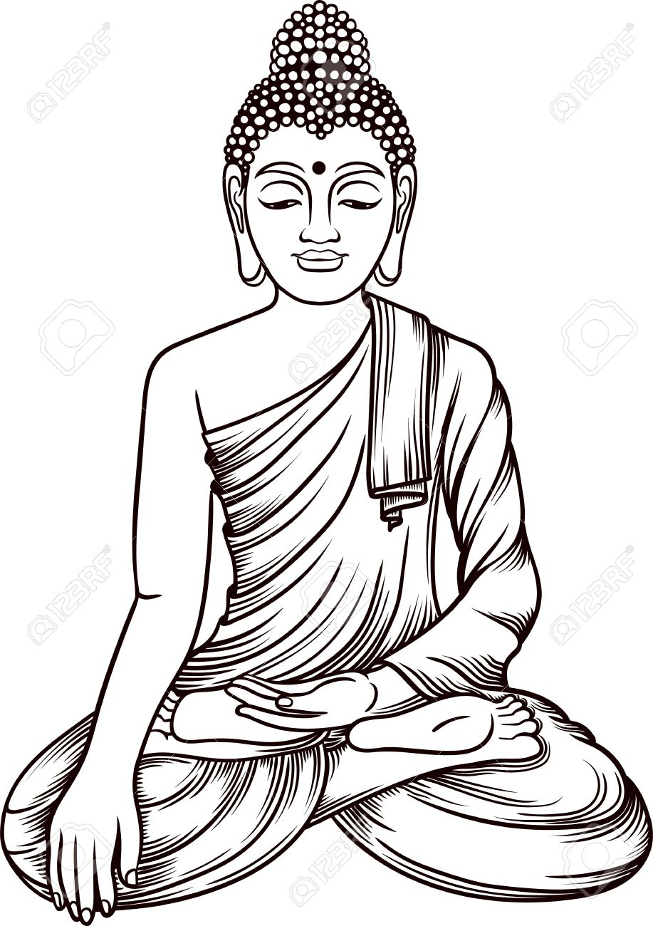 917x1300 Collection Of Free Buddha Clipart Coloring Download On Ui Ex
