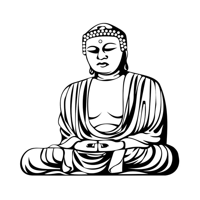 690x690 Collection Of Free Buddha Clipart Design Download On Ui Ex