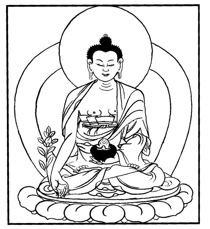 672x732 Collection Of Free Buddha Clipart Lineart Download On Ui Ex