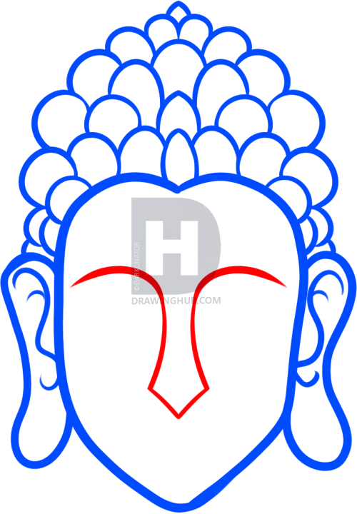 500x720 How To Draw Buddha Easy, Step