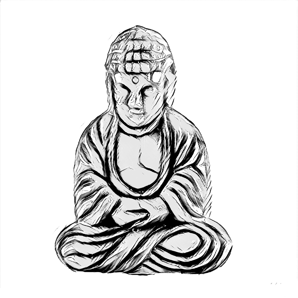 1000x1000 Buddha Drawing Skull For Free Download