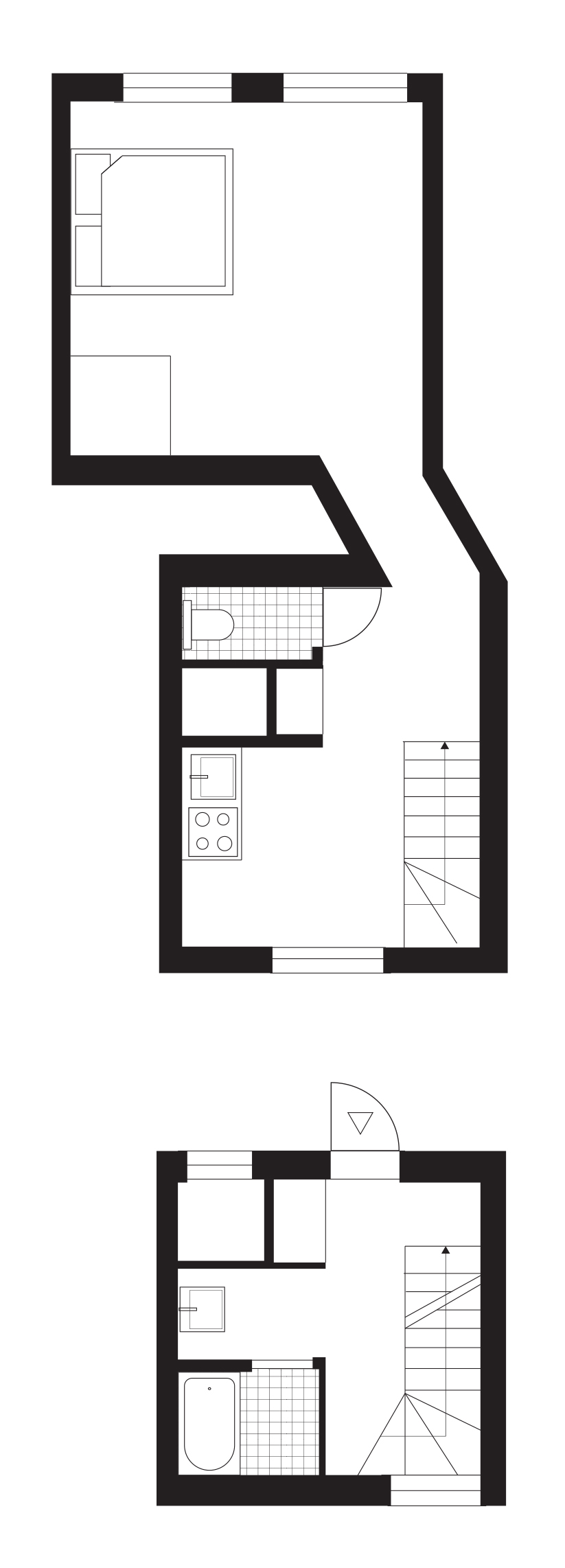 823x2284 One Roof Apartment