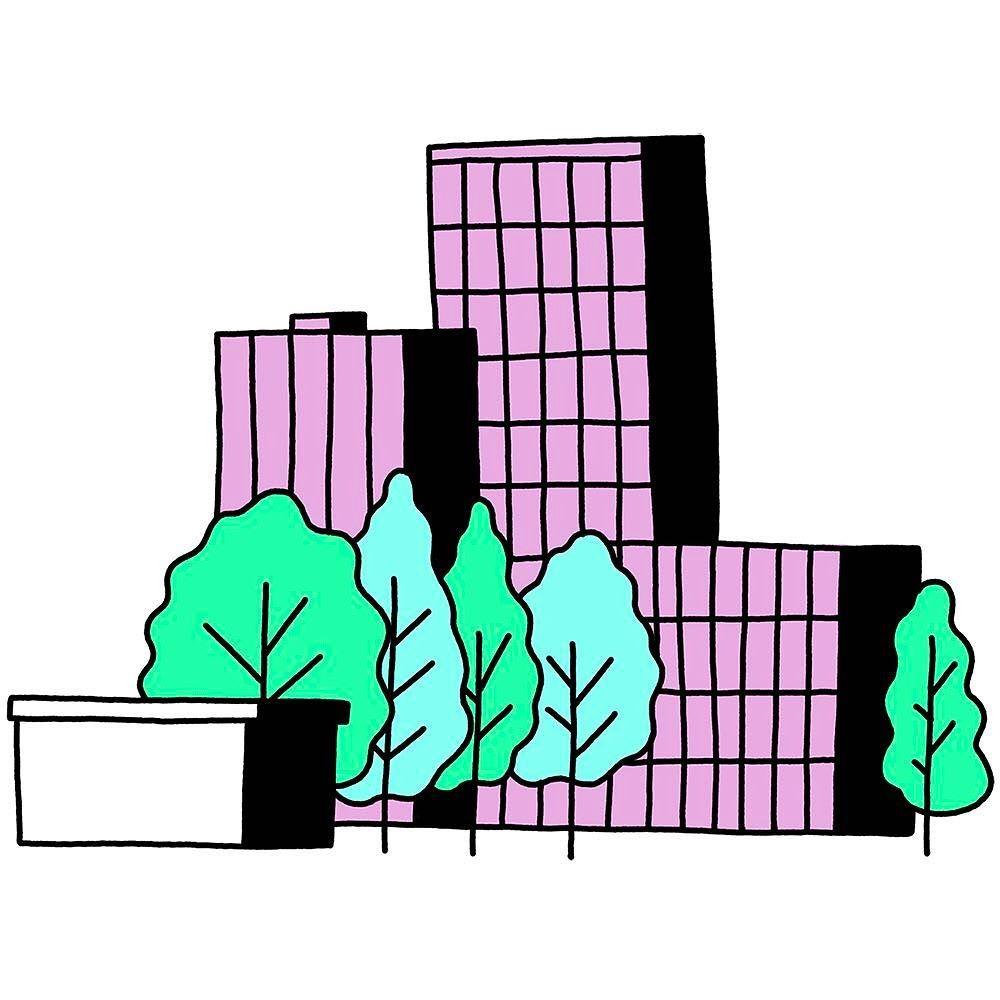 1000x1000 Tree Buildings