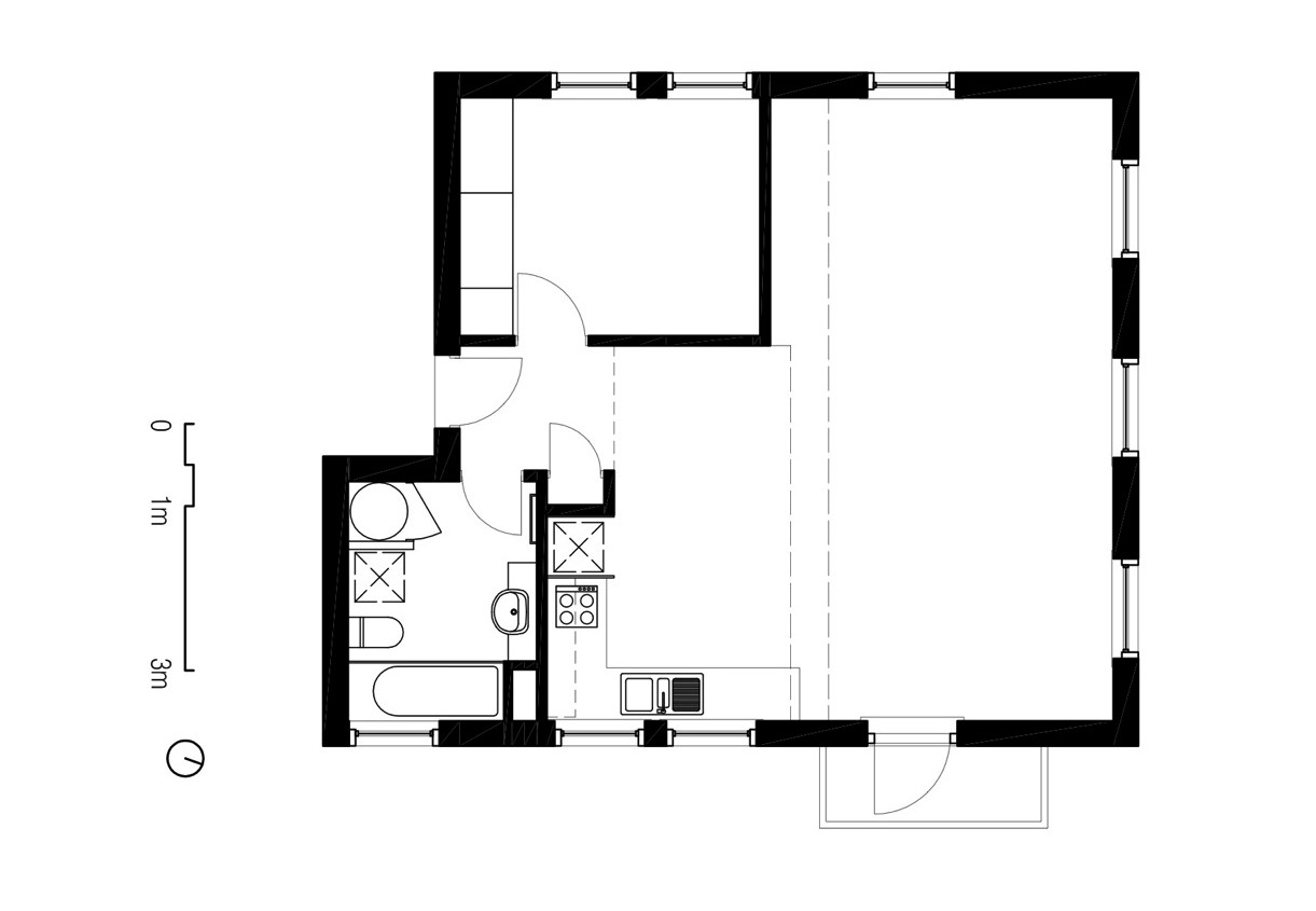 1221x845 Two Apartments In Modern Minimalist Japanese Style
