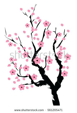 323x470 Huge Collection Of 'japanese Cherry Blossom Tree Drawing