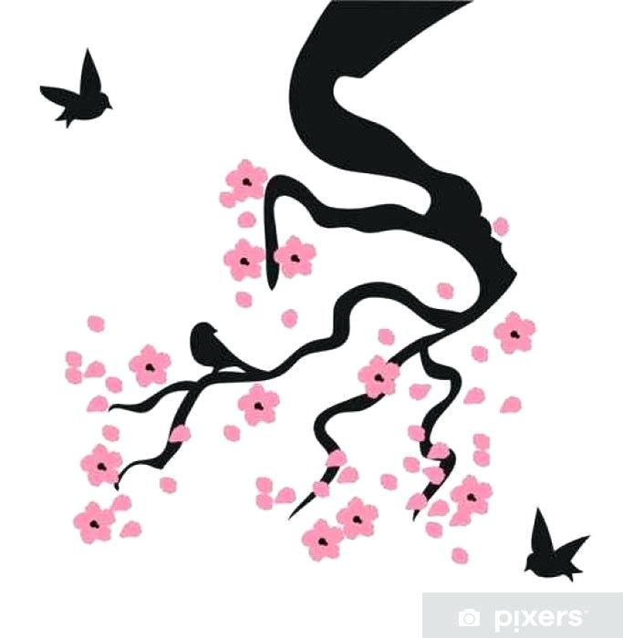 683x700 Cherry Blossom Sticker Japan Drawing Hand Painted Download Free
