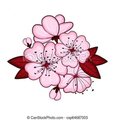 450x470 Cherry Blossom Flower Drawing Zupa