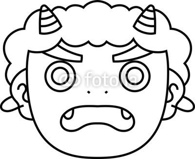 400x326 Cute Japanese Demon Mask Outline Buy Photos Ap Images Detailview