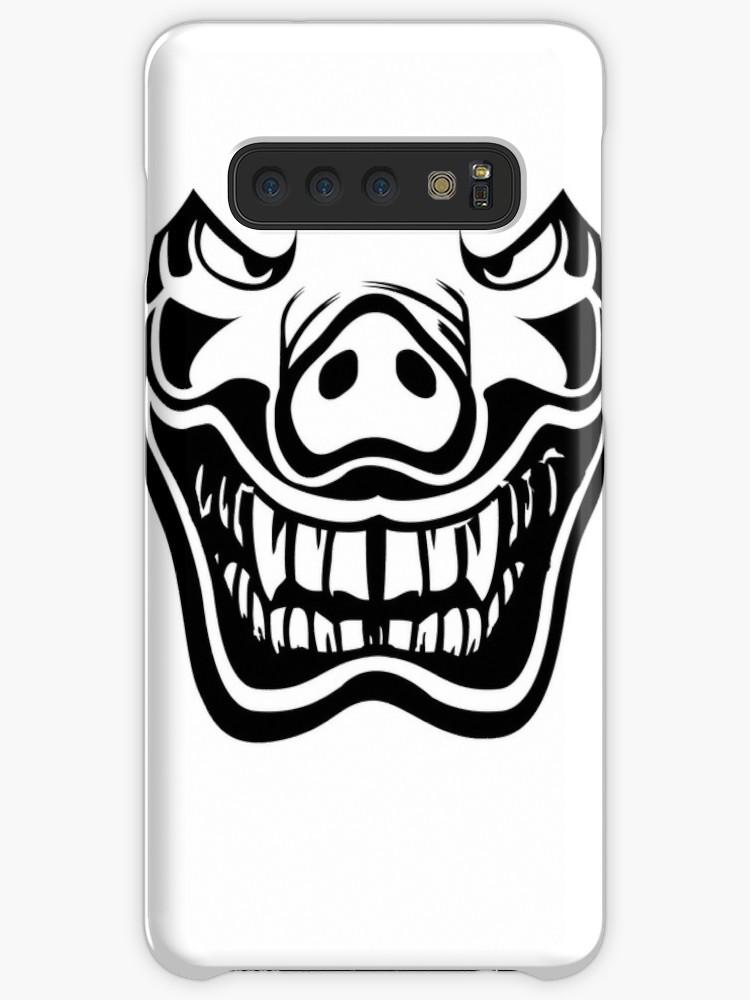 750x1000 Halloween, Demon Pig, Japanese Design, Noh Mask Design, Martial