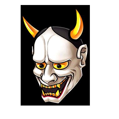 380x380 Japanese Demon Mask