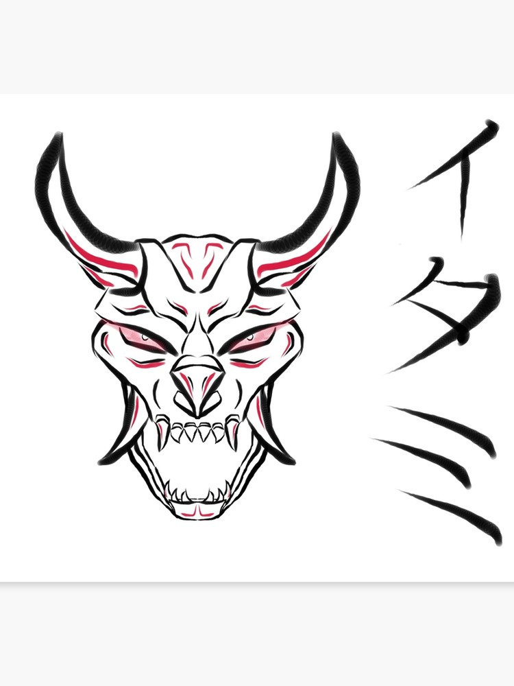 750x1000 Japanese Style Thresh Mask Canvas Print