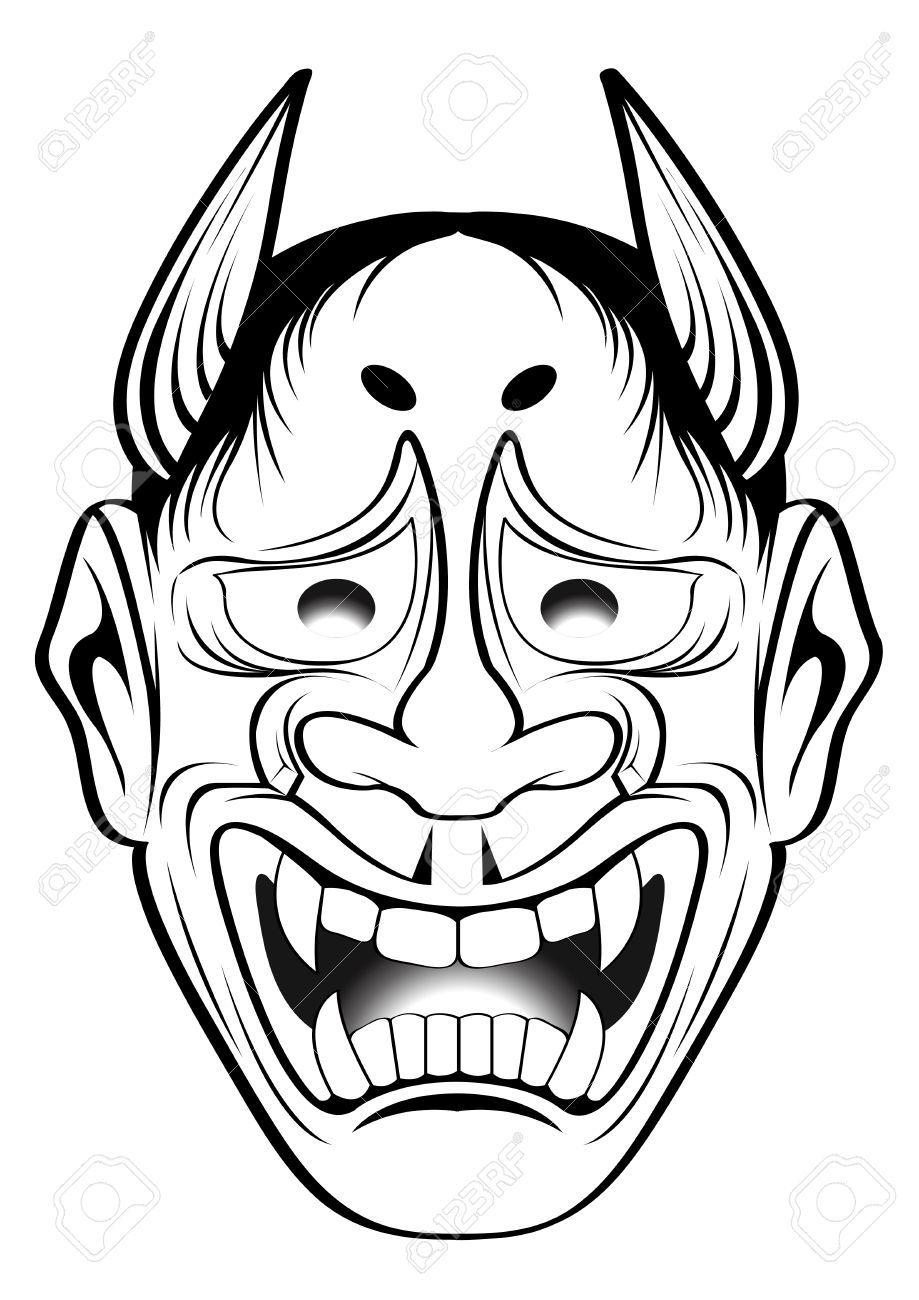 919x1300 Stock Vector Gomi Tattoo Japanese Style, Illustration, Mask Tattoo