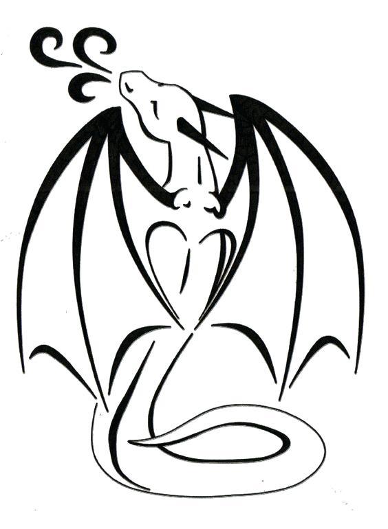 564x770 dragon outline cute black outline dragon tattoo design dragon head