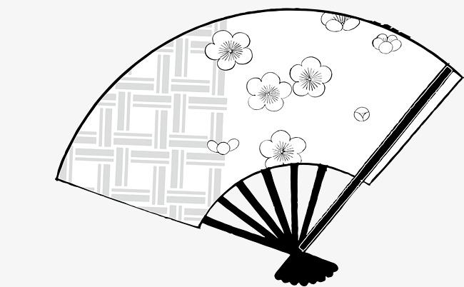 650x402 japanese folding fan, vector folding fan, japanese cherry blossoms