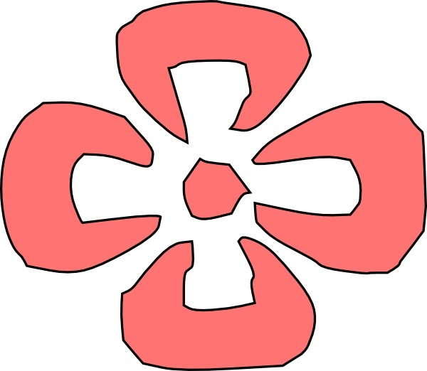 600x522 Japanese Decorative Red Flower Clip Art Free Vector In Open Office