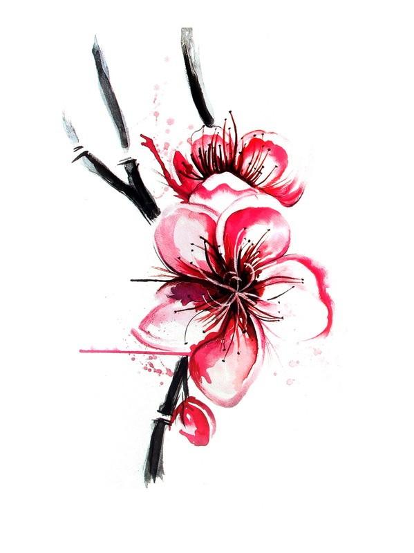 599x800 Japanese Flower Body Tattoo