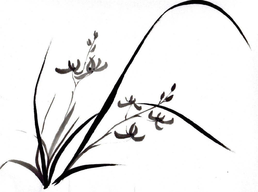 1000x747 Japanese Ink Painting Calligraphy