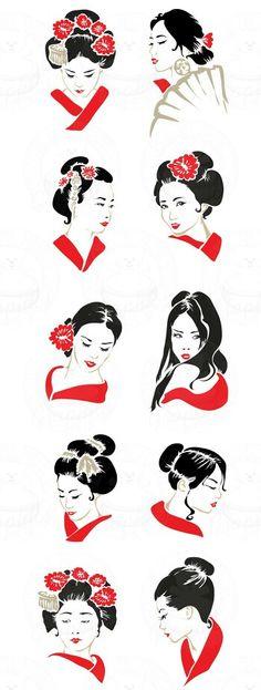 Japanese Geisha Drawing