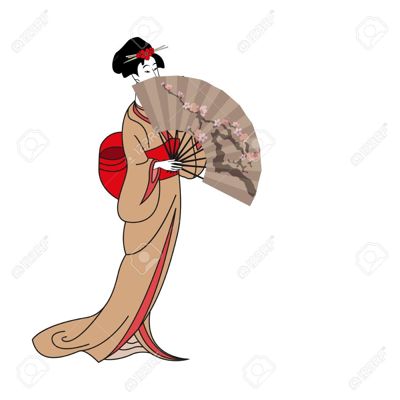 1300x1300 Geisha Clipart Japanese Anime