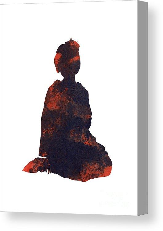 529x750 Geisha Girl Japanese Woman Painting Canvas Print Canvas Art