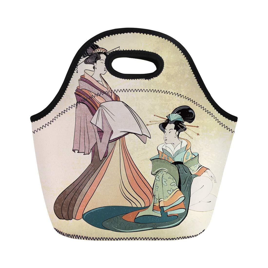 1100x1100 Semtomn Lunch Tote Bag Geisha Ancient Japan Classical