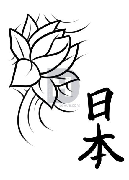 437x611 Japanese Tattoo Drawing Lesson, Step