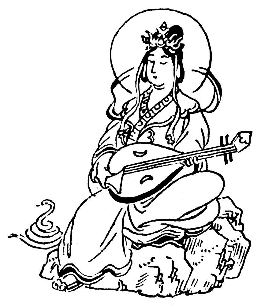 853x1000 Posterazzi Buddhism Benten Nbenten Or Benzaiten