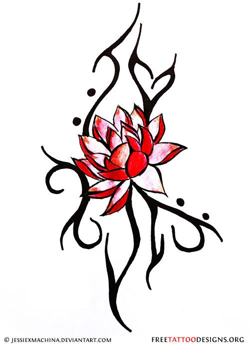 501x700 Japanese Lotus Tattoo Design Pin Pin Lotus Tattoo Maori Tribal