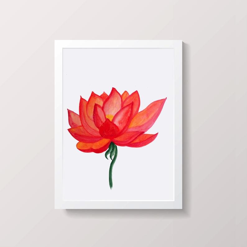 794x794 Lotus Art Lotus Painting Lotus Flower Art Lotus Wall Art Etsy