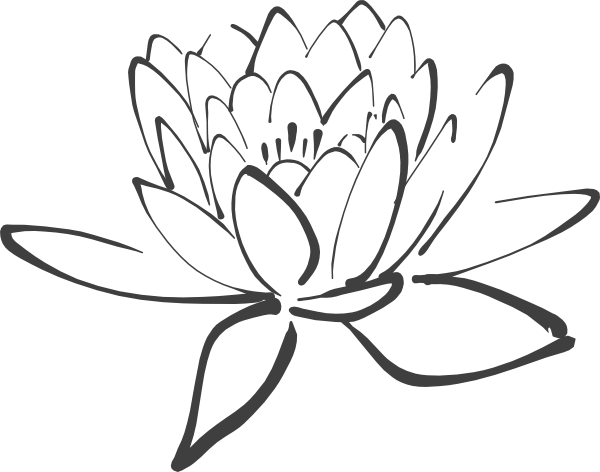 600x472 Outline Lotus Black And Grey Tattoos Ideas And Designs