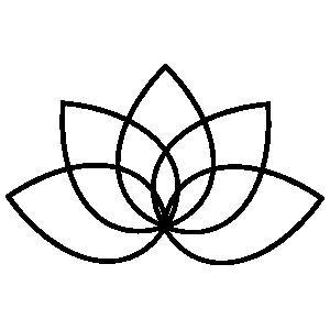 300x300 Lotus Flower Outline
