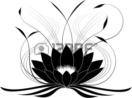 450x335 stock vector ink lotus vector, lotus flower art, lotus