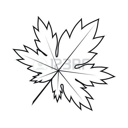 450x450 leaf outline oak leaf template outline maple leaf outline drawing