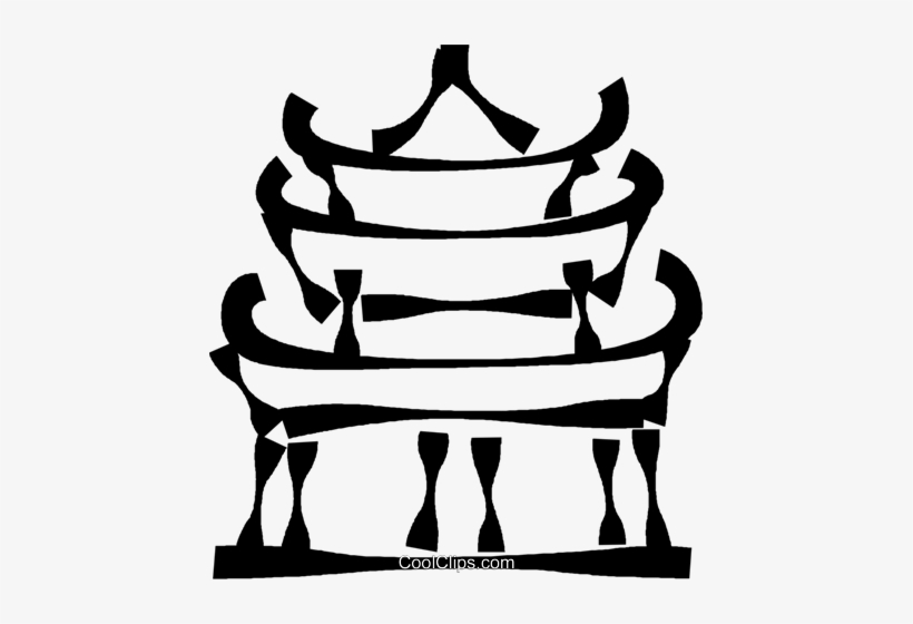 820x560 Japanese Temple Royalty Free Vector Clip Art Illustration