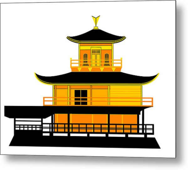 600x543 Temple Of The Golden Pavilion Kyoto Japan Digital Art