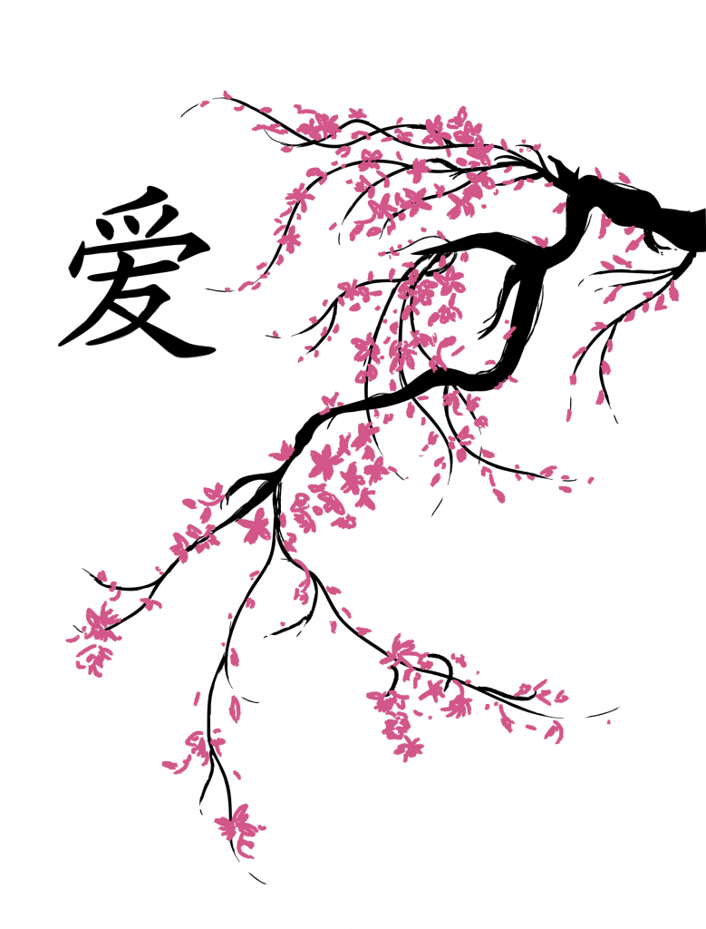 779x1024 Japanese Cherry Tree Drawing Pics Download