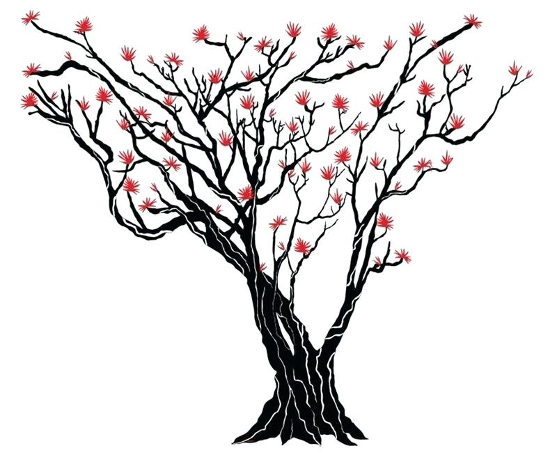 800x653 Artificial Japanese Cloud Tree Blooming Pink On White Background