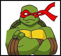 200x184 How To Draw Teenage Mutant Ninja Turtles Cartoon Characters