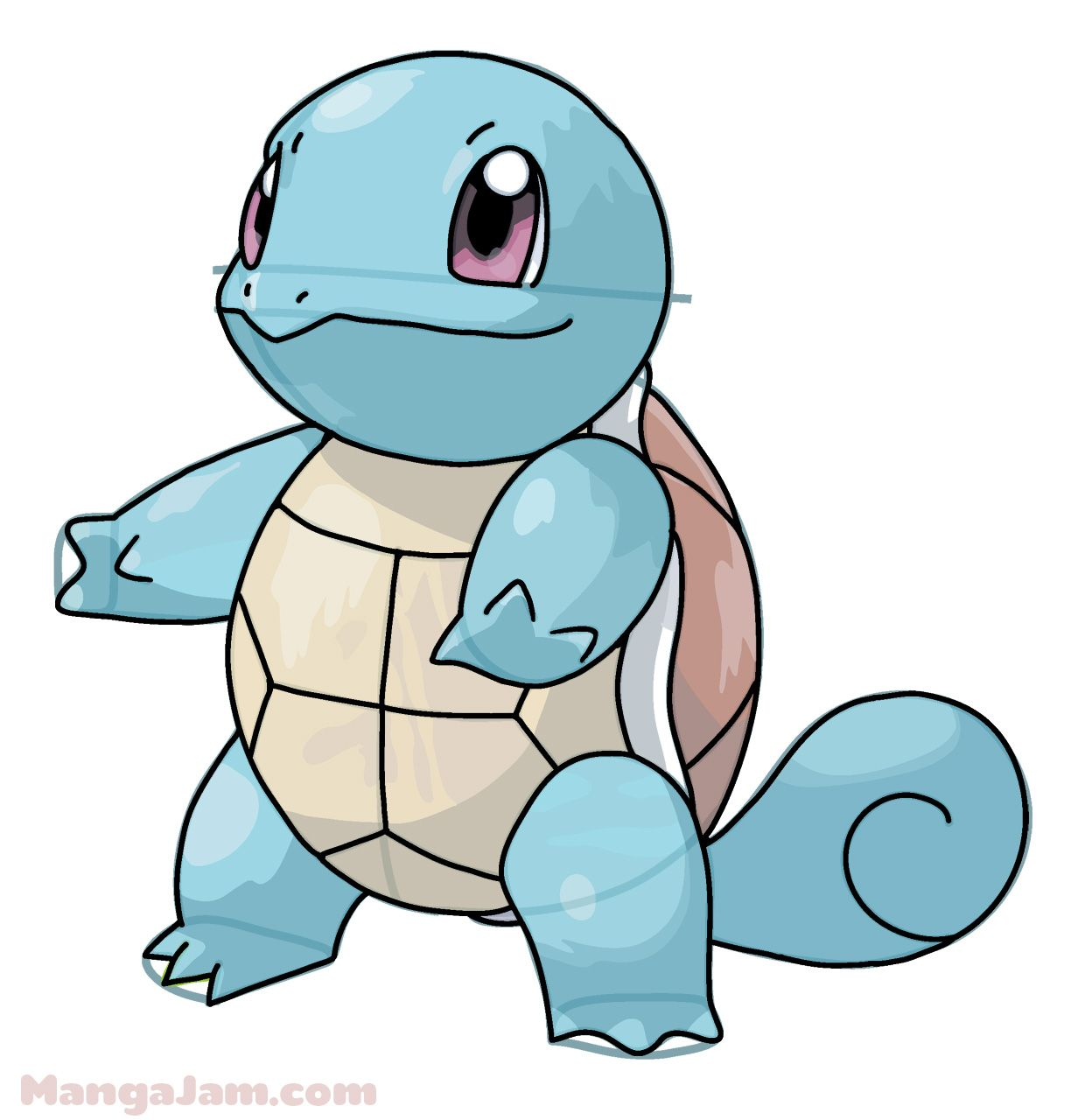 1240x1280 Let's Learn How To Draw Squirtle From Pokemon Today! Squirtle