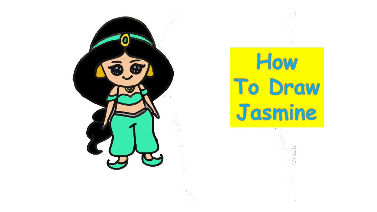 1280x720 How To Draw Jasmine Drawing For Kids Disney Princess