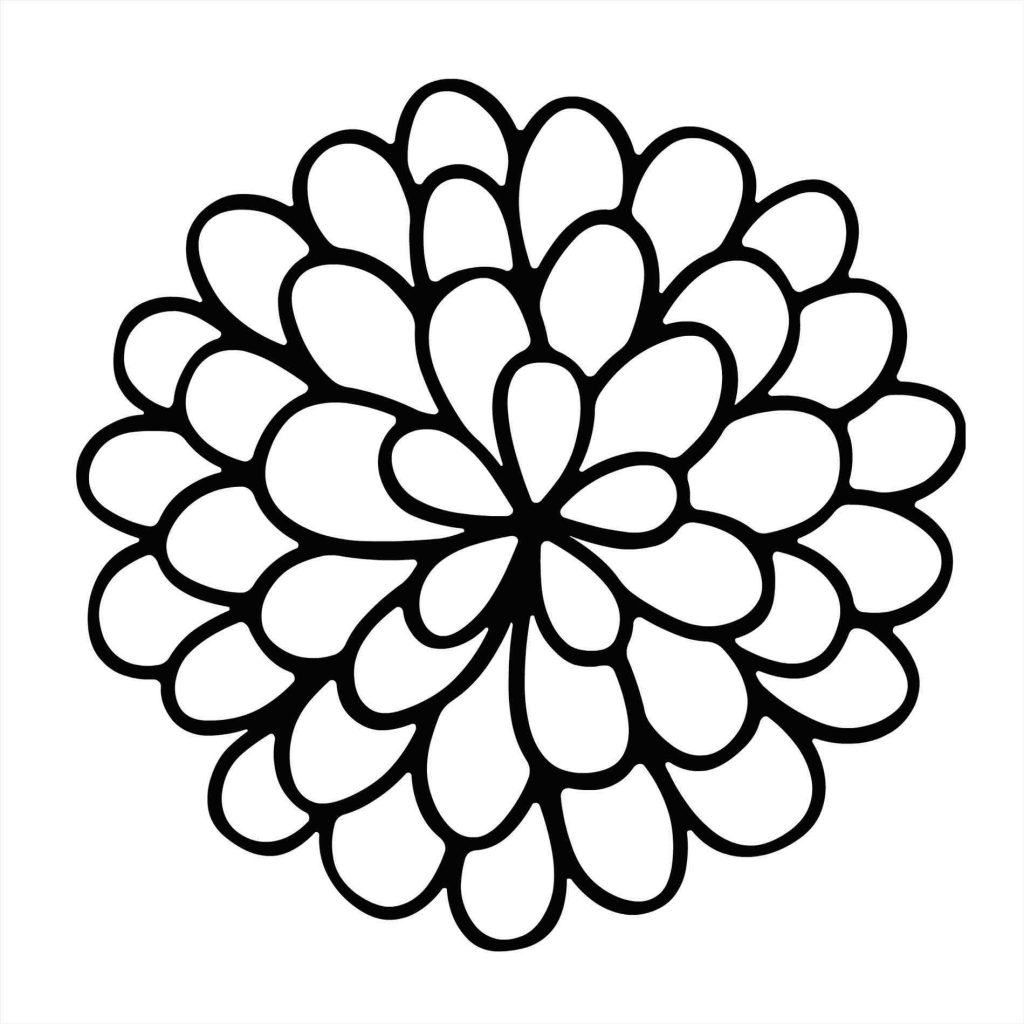 1024x1024 How To Draw A Flower Easy New Simple Drawing A Flower Simple Lotus