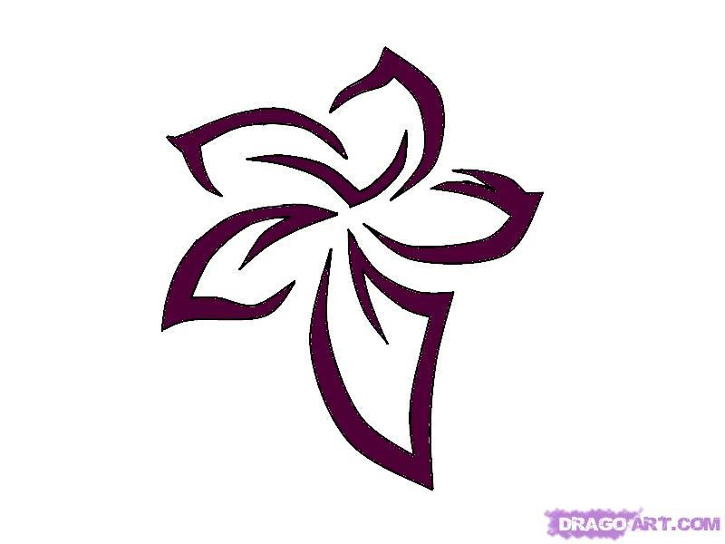 800x600 How To Draw A Tribal Flower Tattoo, Step
